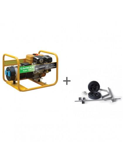 Бензиновый генератор Caiman Expert 4010X + набор транспортировочный в подарок!