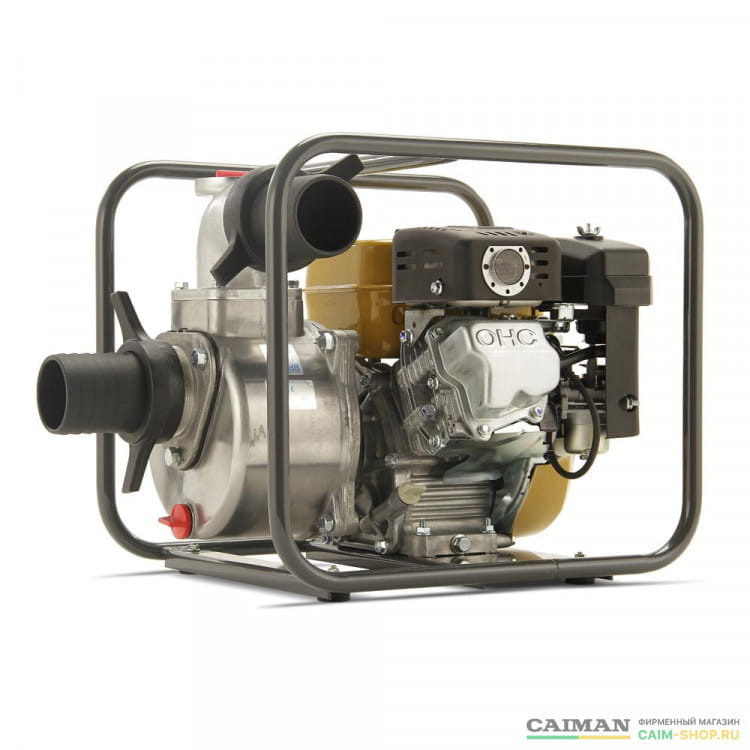 Бензиновая мотопомпа Caiman CP-304C + Напорный пожарный рукав в подарок!